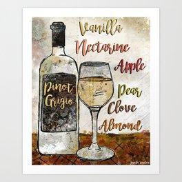 Pinot Grigio  Art Print