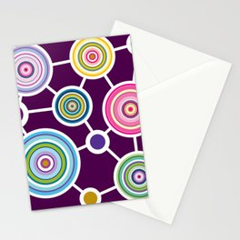 ROUND CONECTION Stationery Cards