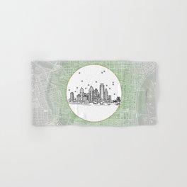 Philadelphia, Pennsylvania City Skyline Illustration Drawing Hand & Bath Towel
