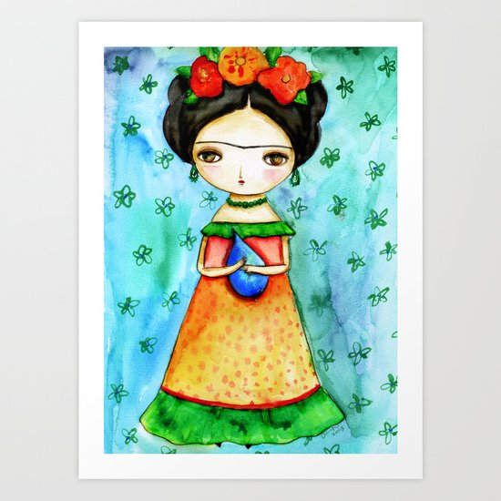 Frida And Her Tears Art Print