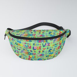 1960s Word Power Fanny Pack