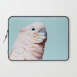 Parrot Photography | Pink Bird |  Tropical | Exotic | Turquoise Art | Blush Pink Laptop Sleeve