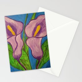 Purple Calla Flowers Stationery Cards