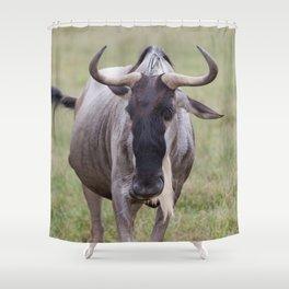 Wild Wildebeest Shower Curtain