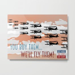 Aeroplanes and War Bonds Metal Print