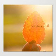 Hello Fall Canvas Print