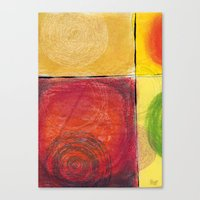 kandinsky Canvas Prints featuring Colourful pastel work kandinsky inspired by Easyposters