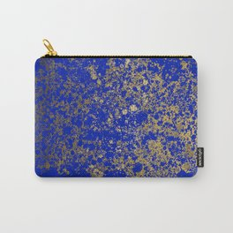 Royal Blue and Gold Patina Design Carry-All Pouch