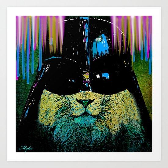 DARTH LION HIPSTER Art Print