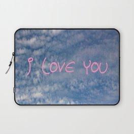 I love you,love,sky,cloud,girl, romantic,romantism,women,heart,sweet Laptop Sleeve
