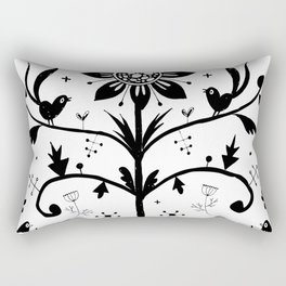Slavic Flower Pattern Rectangular Pillow