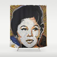 philippines Shower Curtains featuring Our Lady of Size 8 1/2 by Matt Pecson