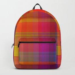 Plaid, hot colors Backpack
