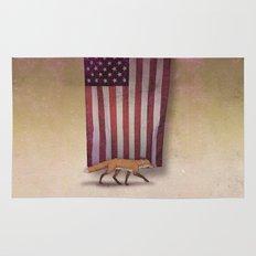 the Fox & the Flag Rug