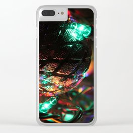 Silver Christmas Balls and Lights Clear iPhone Case