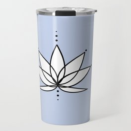 Imperfect Lotus Outline with Background Travel Mug