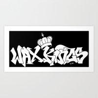 Wax Kings Logo with Crown  Art Print
