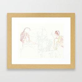 White Stripes Framed Art Print
