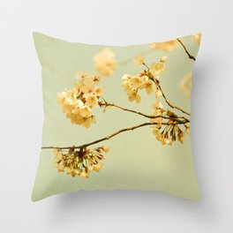 vintage cherry blossoms Throw Pillow