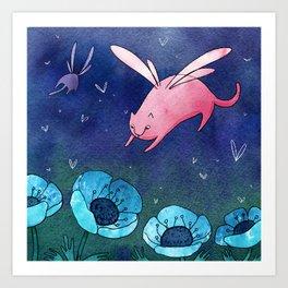 Fairy cat Art Print