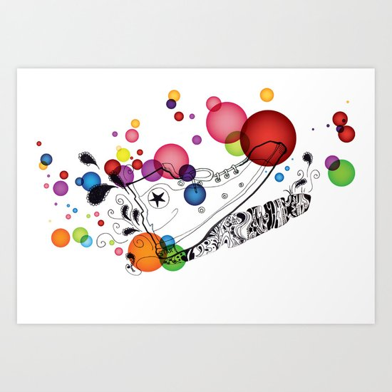 Rolly pop shoes Art Print