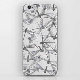 watercolor dragonflies silver iPhone Skin