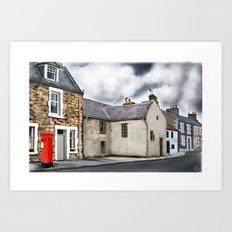 Traditional Houses in Elie, Kingdom of fife, Scotland [Digital Architecture Illustration] Art Print