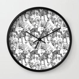 Fetching Florals Wall Clock