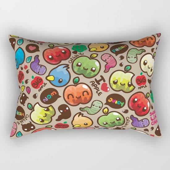 Apple Pattern Rectangular Pillow