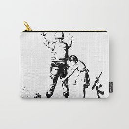 Stop and Search - Girl and a Soldier - Banksy Carry-All Pouch