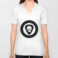 punk rock V-neck T-shirts featuring Punk, Rock & Ska by Howiesgraphics