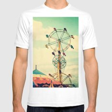 Get your ticket to ride. Mens Fitted Tee MEDIUM White