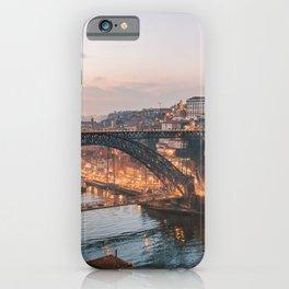 Dom Luis Bridge by Sunset | Portugal Travel | Porto Architecture Cityscape Photography iPhone Case