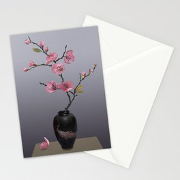 Flowering Pink Quince Stationery Cards