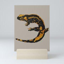 Watercolor drawing of a fire salamander Mini Art Print