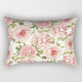 old fashioned peonies Rectangular Pillow