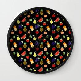 CHALKBOARD FRUIT Wall Clock