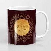 sun and moon Mugs featuring sun-moon by Vila Propuh