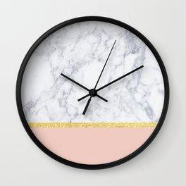 Marble Peach Wall Clock