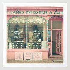 Sweet Cafe Art Print