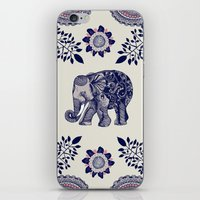 boho iPhone & iPod Skins featuring Elephant Pink by rskinner1122