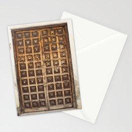 Puerta Malaga Wood Door España Stationery Cards