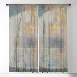 Odilon Redon - Flower Clouds Sheer Curtain