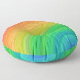 Bright Rainbow   Abstract gradient pattern Floor Pillow