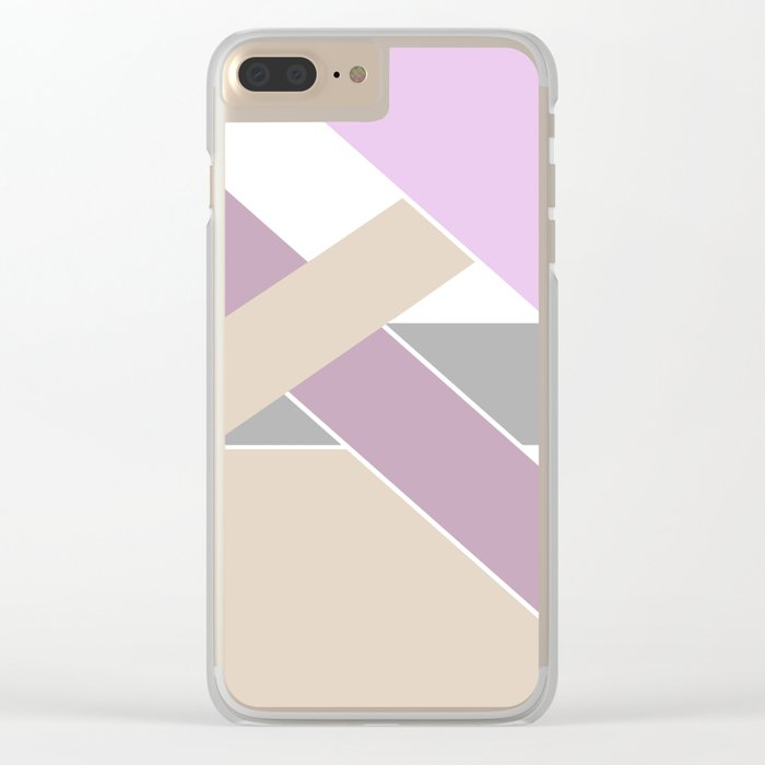 Abstract pattern . Geometric shapes .2 Clear iPhone Case