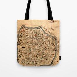 Map Of Ningbo 1846 Tote Bag