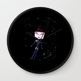 SPACE GIRL Kids Wall Clock