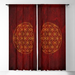 Flower of Life Collection Blackout Curtain