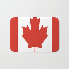 red maple leaf flag of Canada Bath Mat