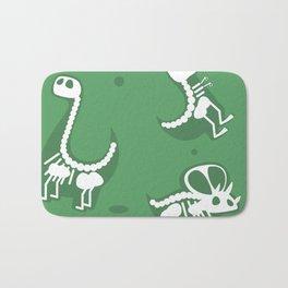 Dinosaur fossils pattern Bath Mat